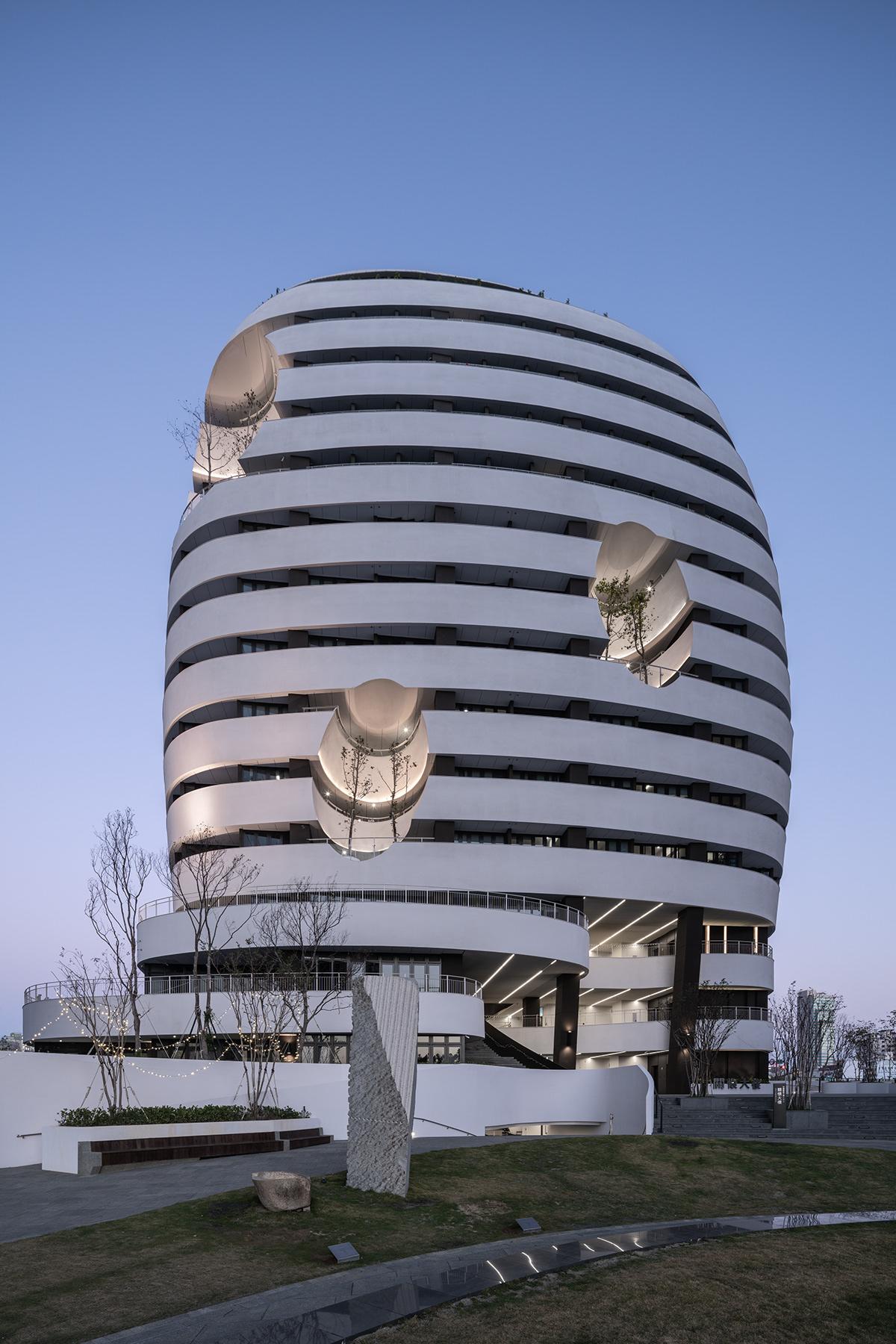 architecture campus CMU curve design dorm home housing taiwan University