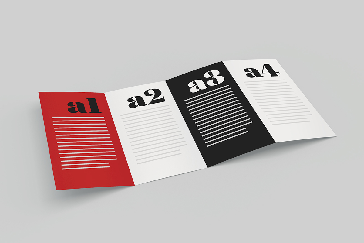 mockup fold brochure on behance