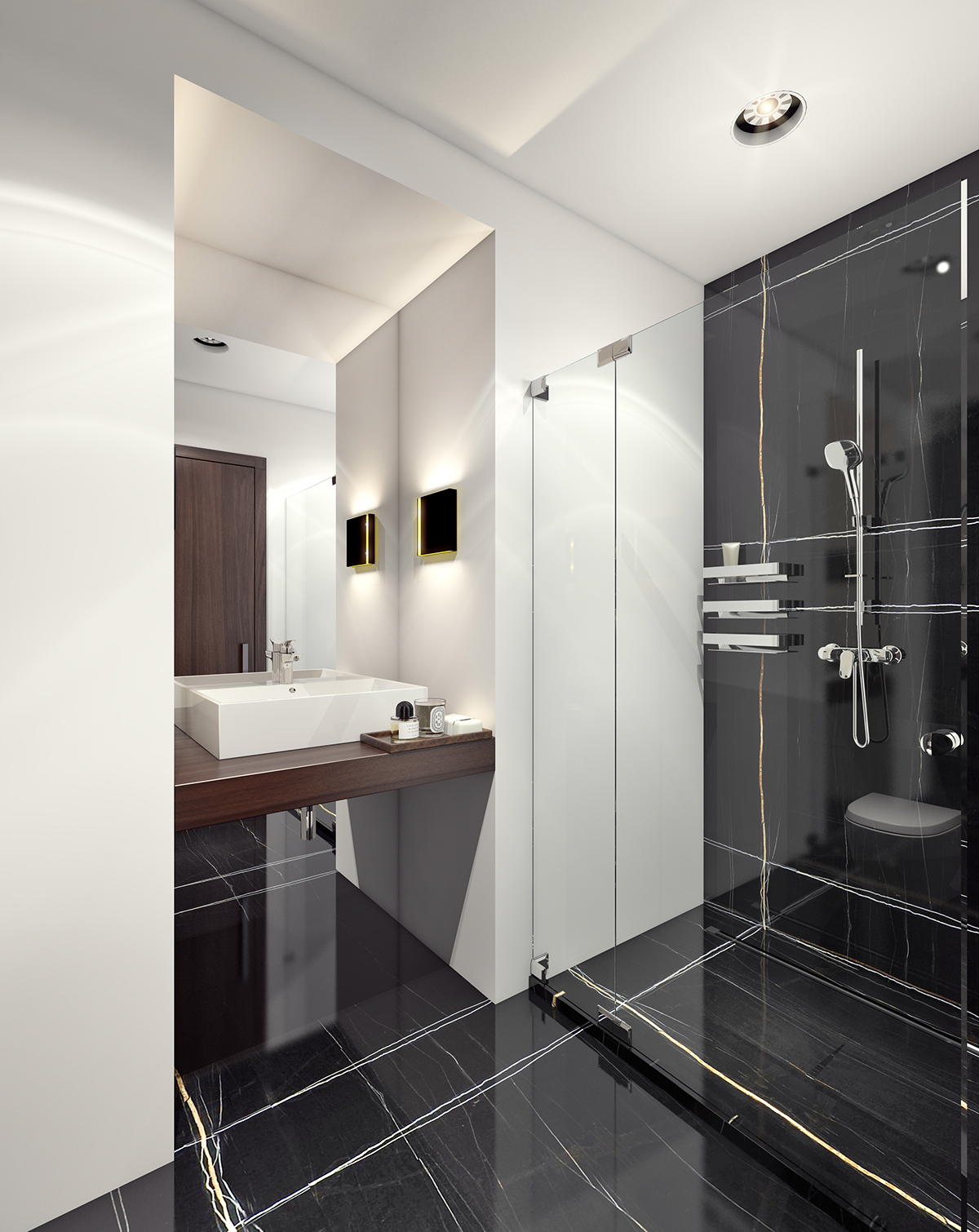 & Small WC design. 3D visualization. on Behance