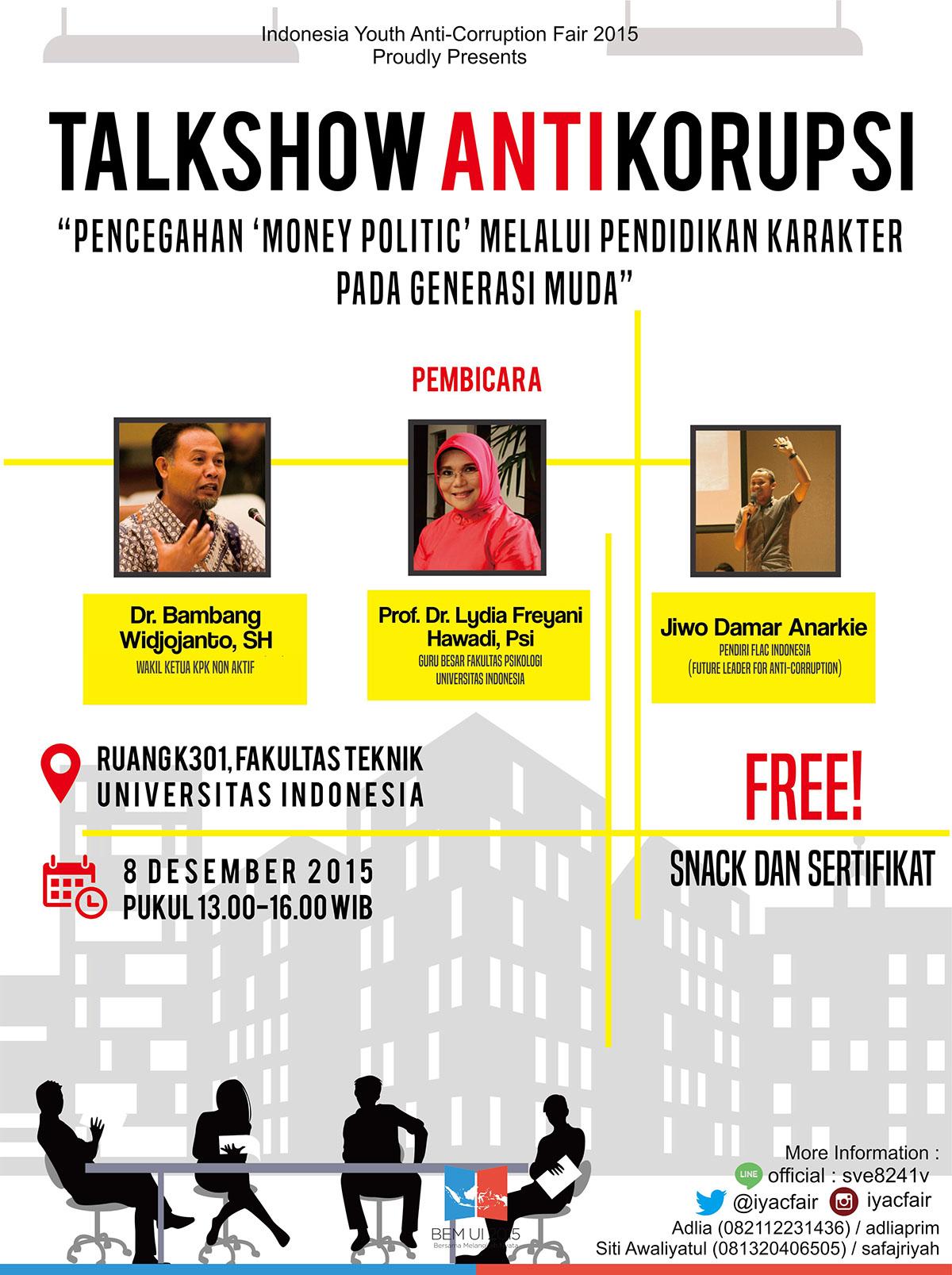 Poster Talkshow Anti Korupsi Iyac Fair Ui 2015 On Behance