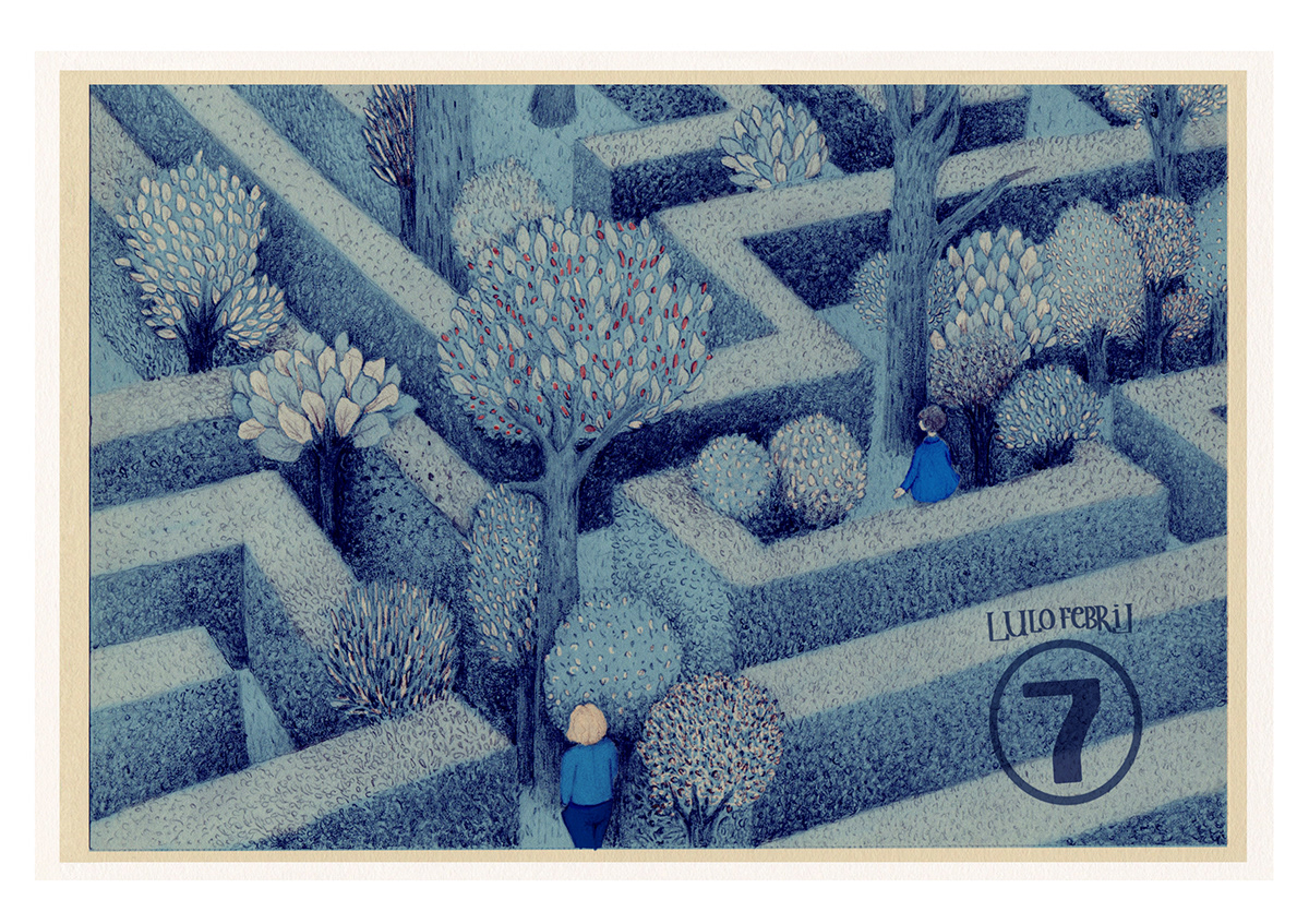 estamp estampillas ilustracion distancias memorias lulofebril ILLUSTRATION