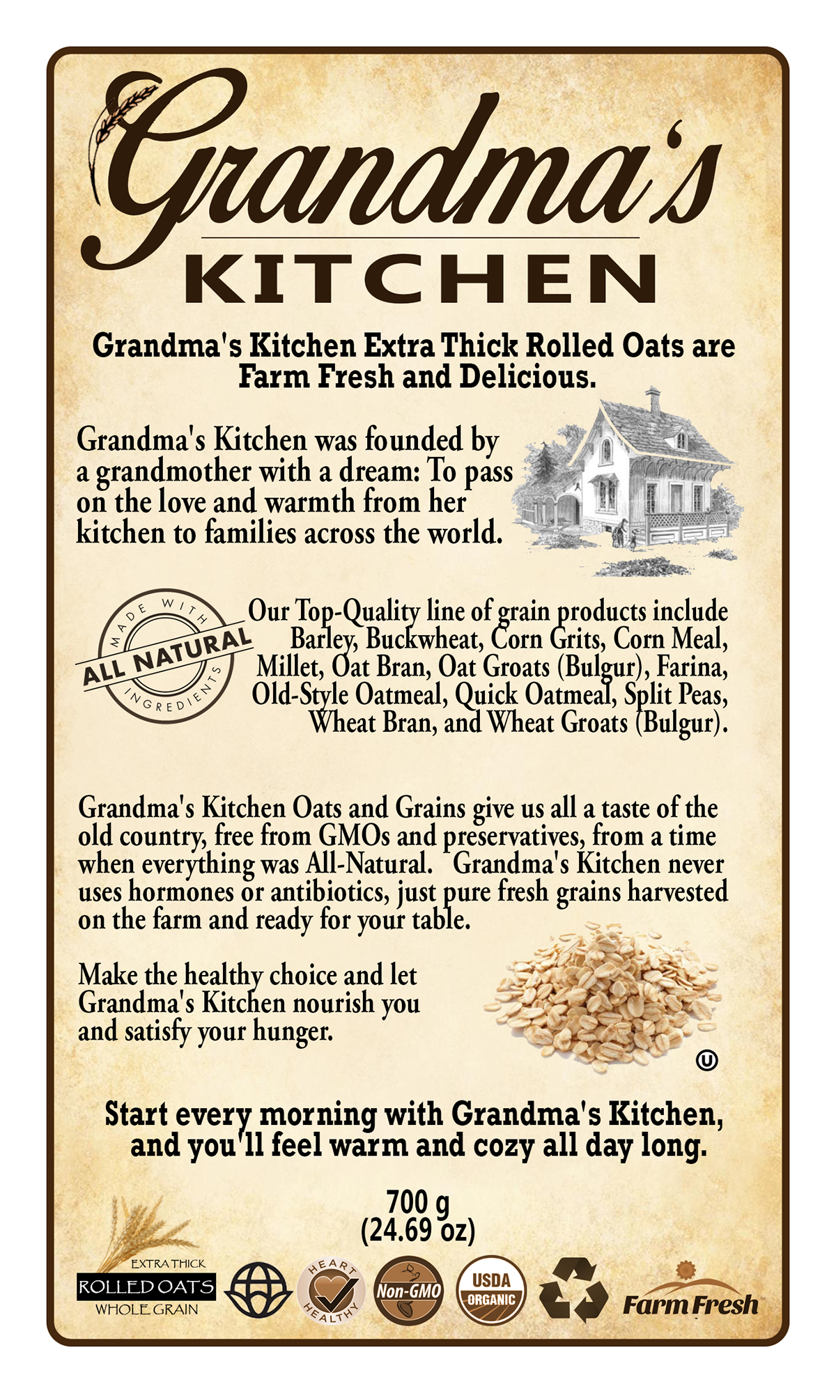 Grandma\'s Kitchen Product Labels on Behance