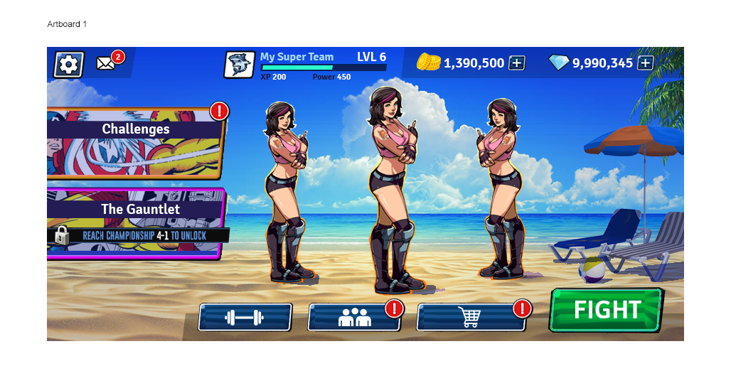 style for game about women's wrestling