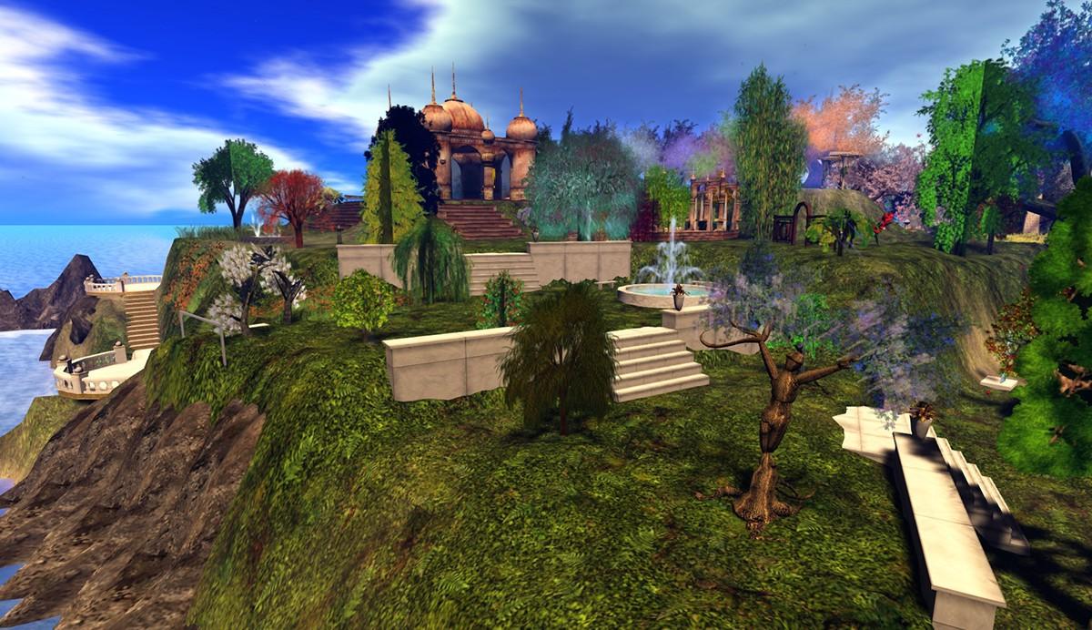 second life Landscape Design virtual world garden