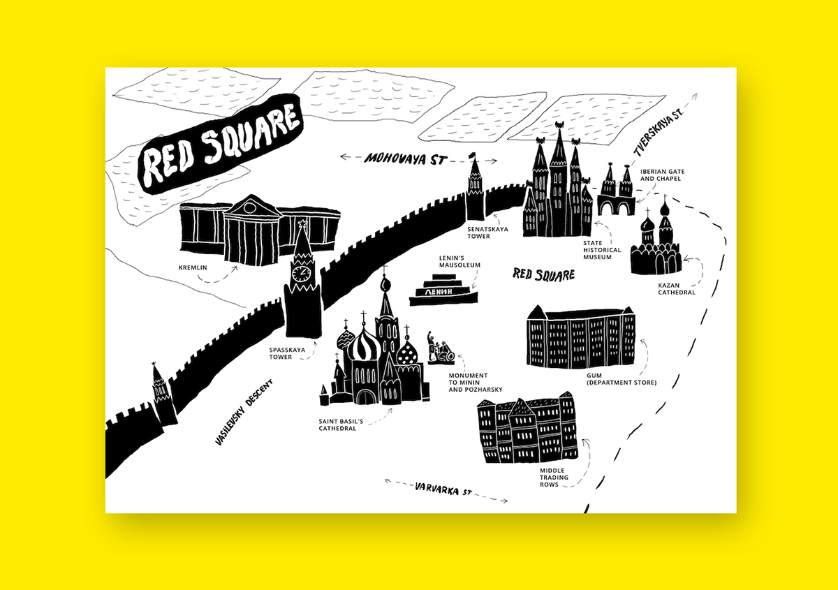 Moscow Red Square Map On Behance
