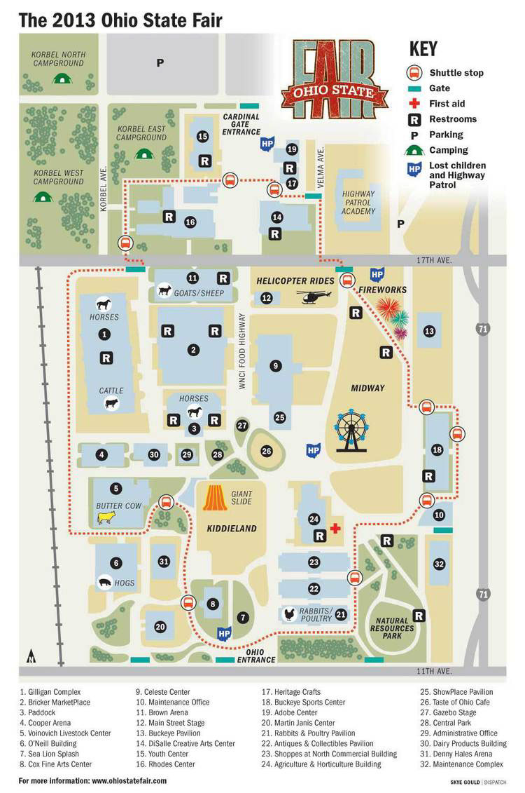 The 2013 Ohio State Fair Map