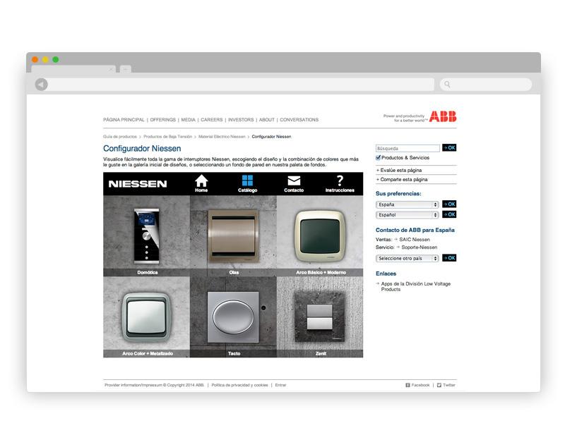 app microsite switch display