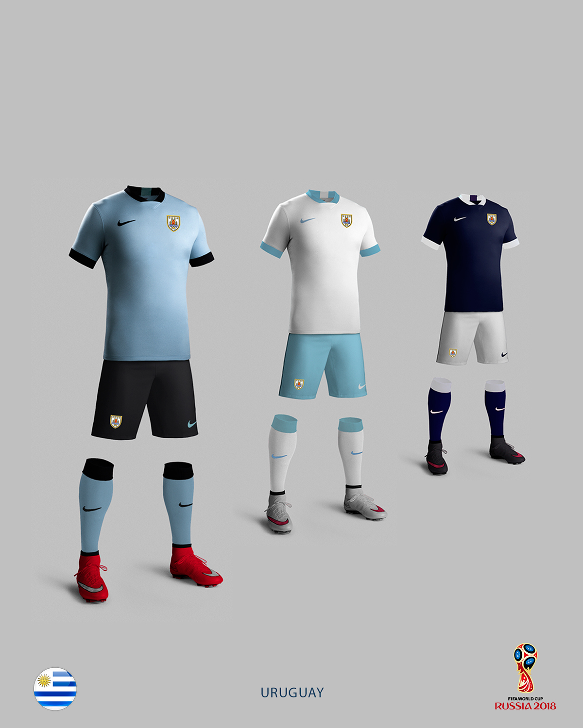 new concept a402f d27bc Uruguay Soccer Kit - 2018 FIFA World Cup Russia on Behance