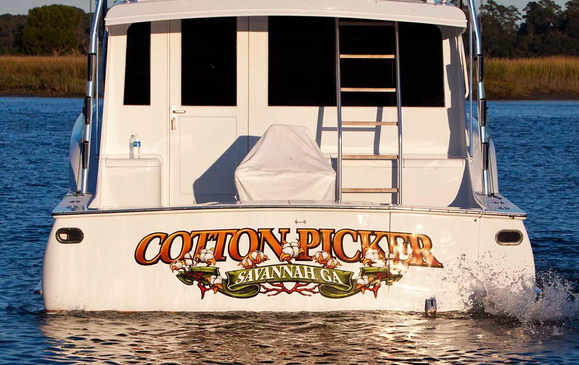 Cotton Picker Boat Graphics Transom Graphics Transom Art Vehicle Graphics