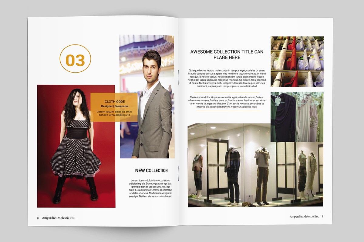 Fashion Lookbook Template 20 Pages on Behance – Fashion Design Brochure Template