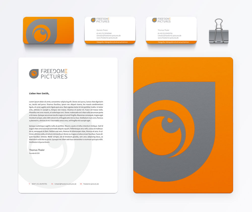 Corporate Design Logo Design Freedome Pictures On Behance