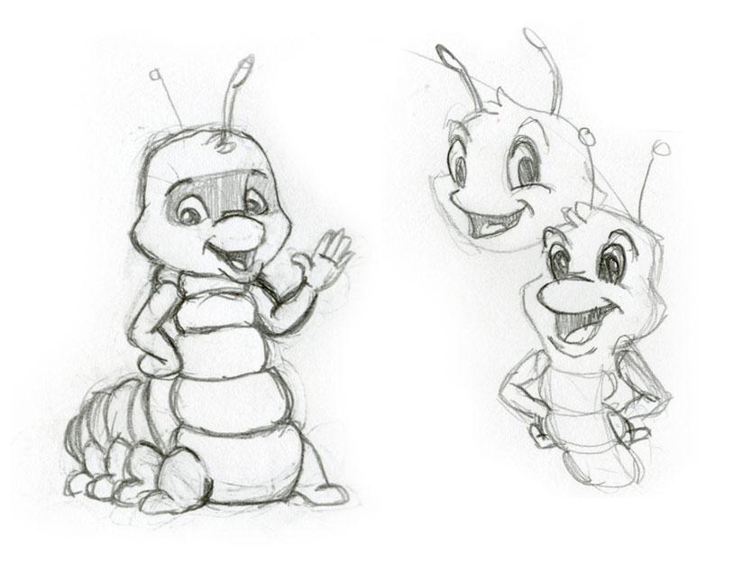 Caterpillar Mascot characters