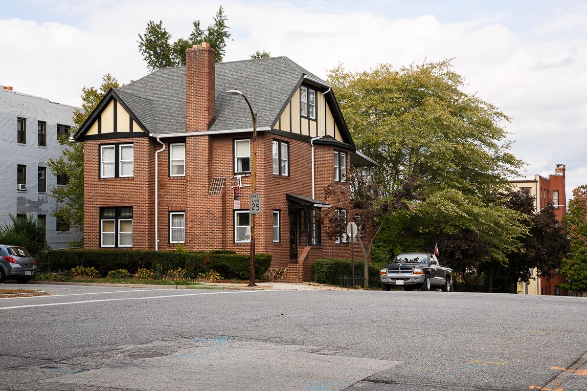 park avenue america Landscape building seasons time Baltimore maryland usa house neighborhood