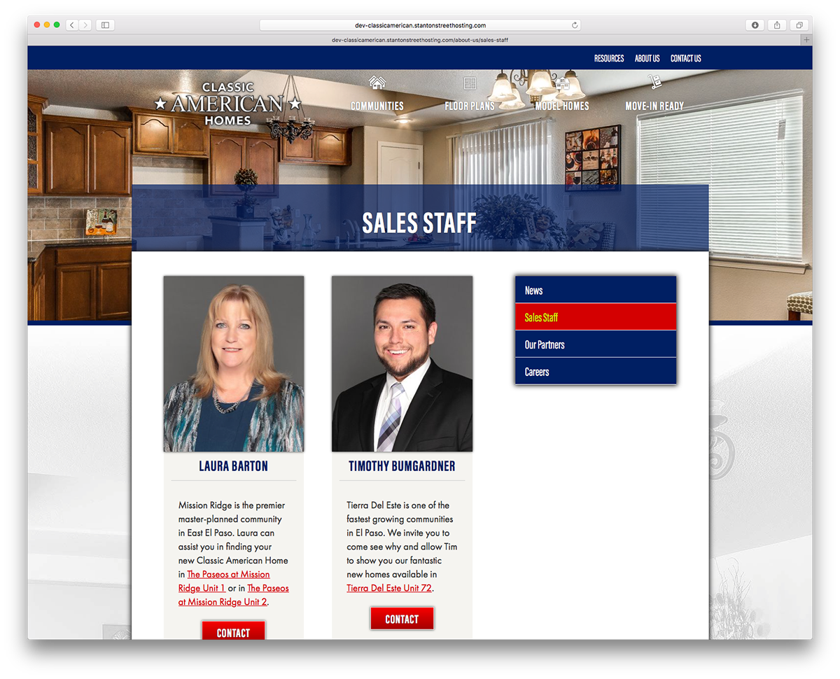 Responsive mobile Dynamic builders home home building Land development usa red White blue