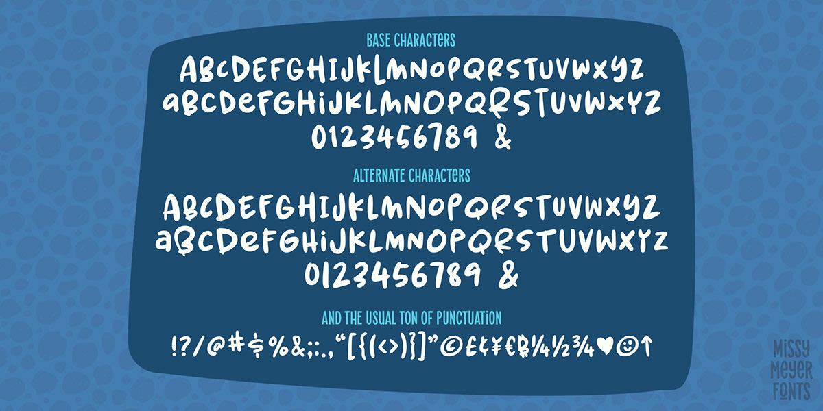bold bouncy cute font handwriting kids lettering spring herbs Typeface