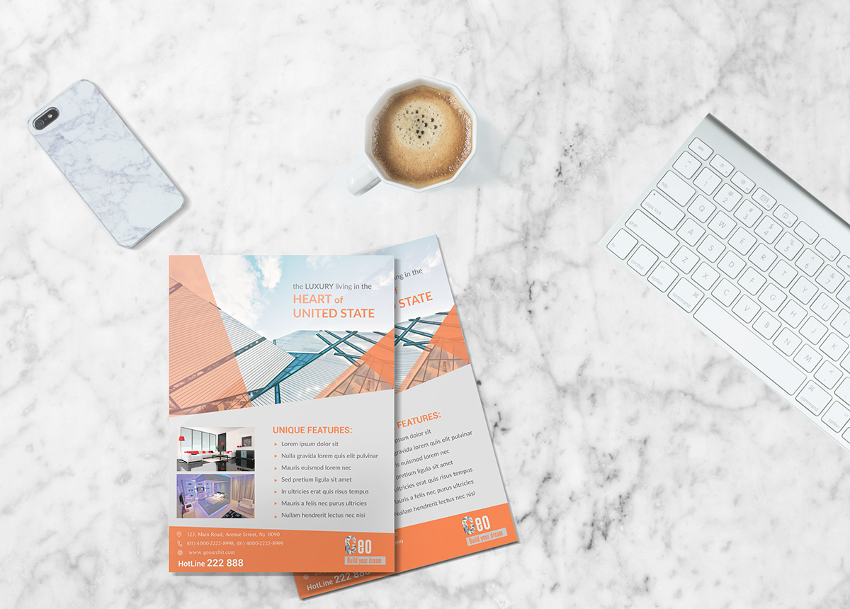Free Architecture Flyer Design Psd Template On Behance