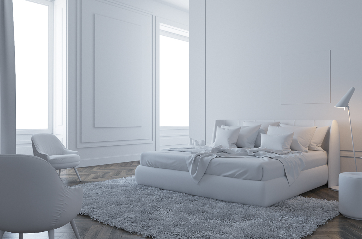 Bedroom   Free Download Scene. Lighting And Materials Are Included.  Software : 3D Max 2014   Corona 1.5