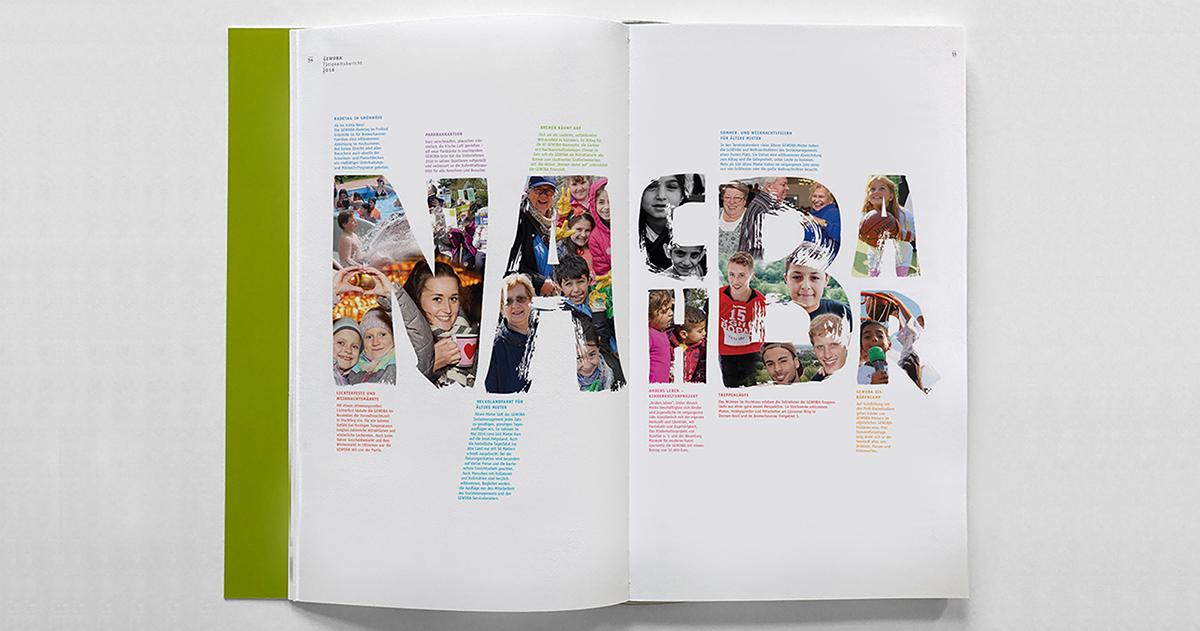 Corporate Design geschäftsbericht print reports grün Gewoba