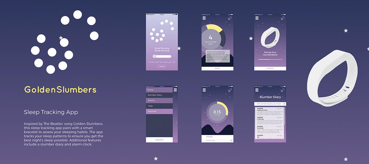 GoldenSlumbers Sleep Tracking App on Pratt Portfolios