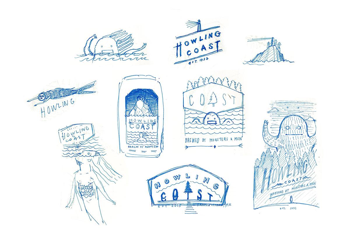 Adobe Portfolio Packaging beer graphic design  ILLUSTRATION  Portland Maine logo