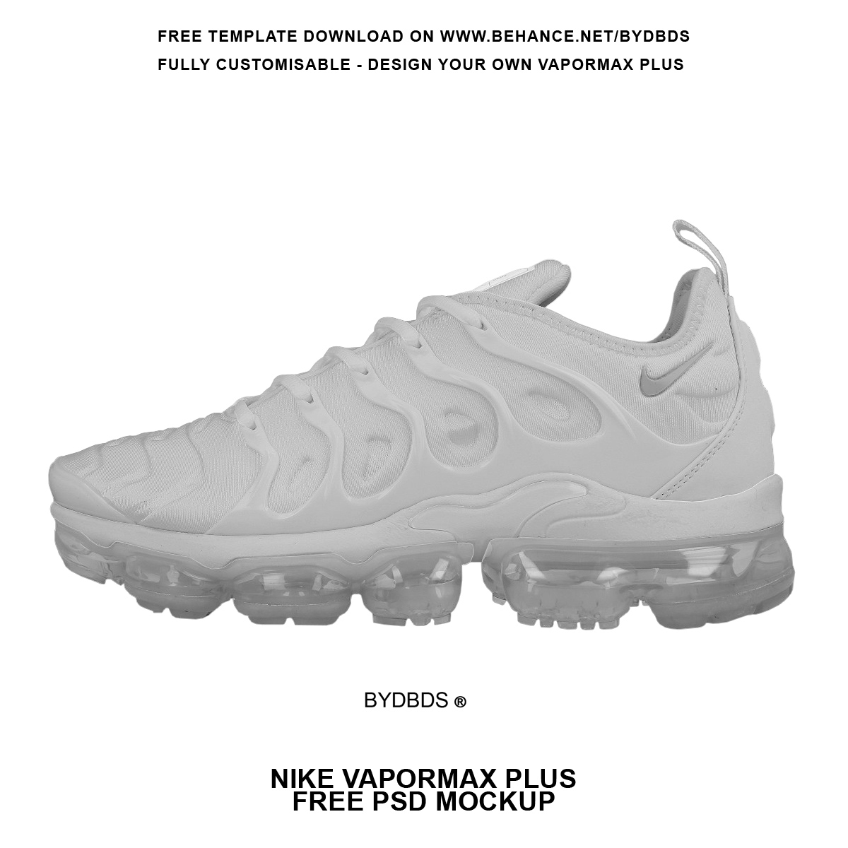 Free nike air vapormax psd template mockup on behance maxwellsz