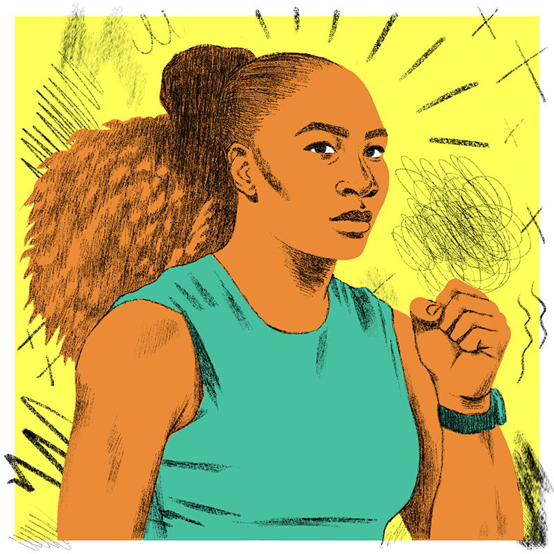 hysterical,women,Serena Williams,emotions