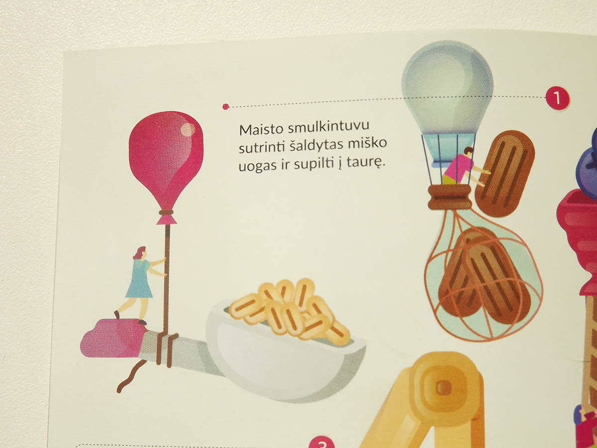 Culinary Booklet children editorial food making factory healthy
