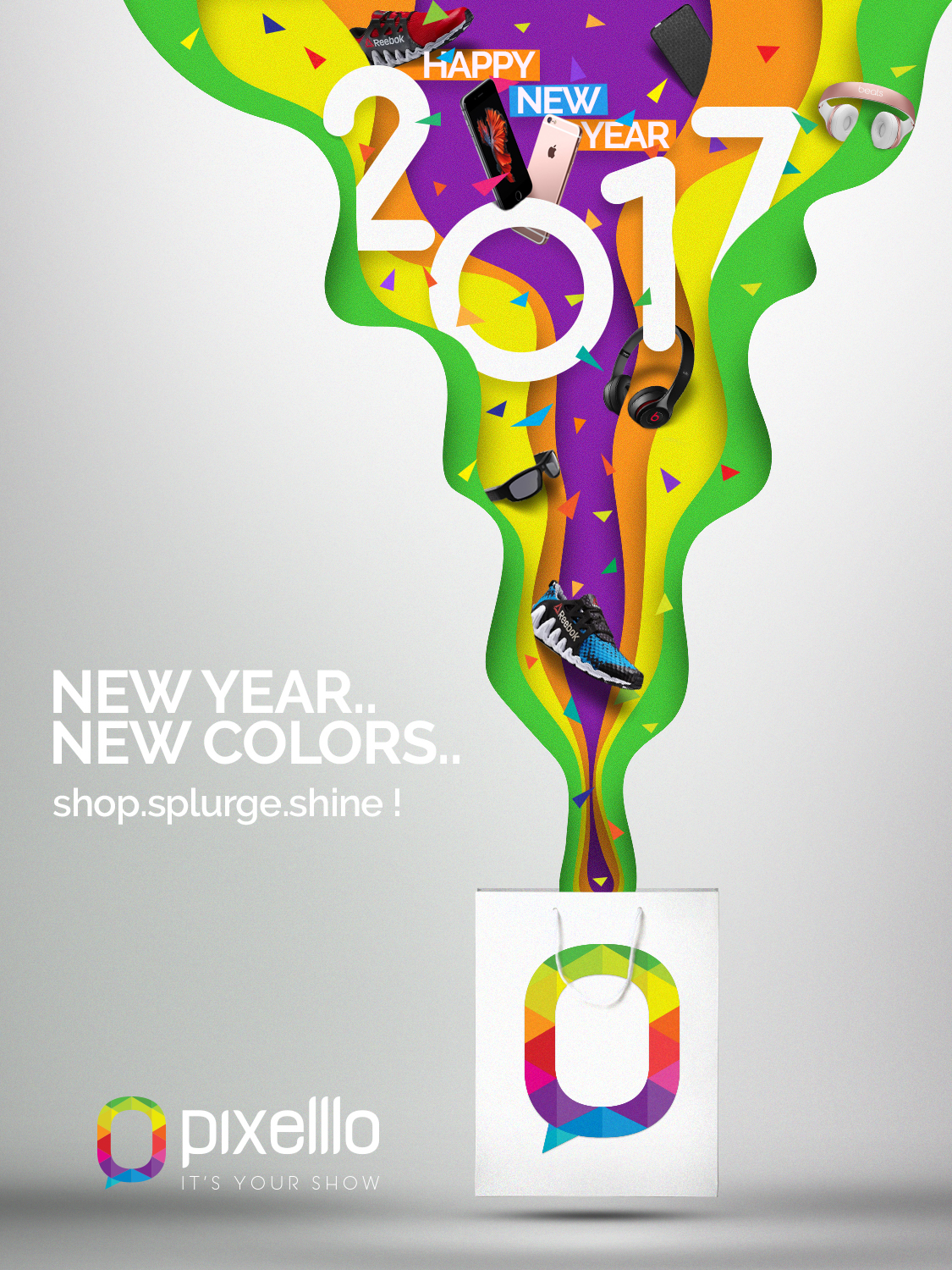 New Year Greetings From Pixelllo On Behance
