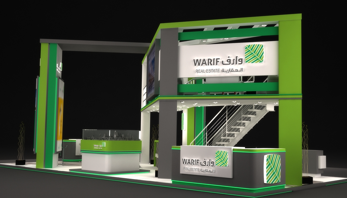 Property Exhibition Booth : Warif real estate exhibition booth in ksa on behance