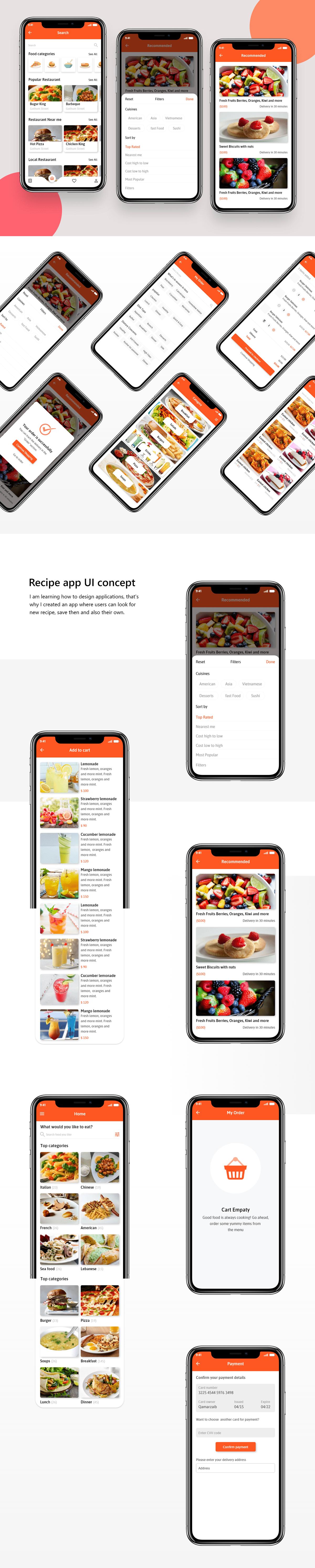 latest modern trending food delivery app uiux design 2021