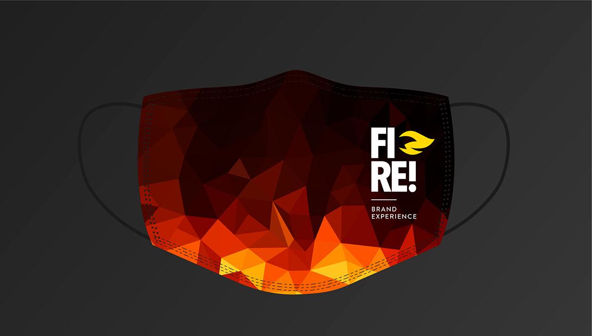 brand experience branding  design logo fire Logo Design rebranding redesign