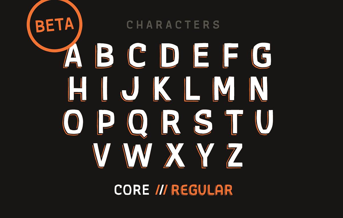 font gothic handdrawn free beta