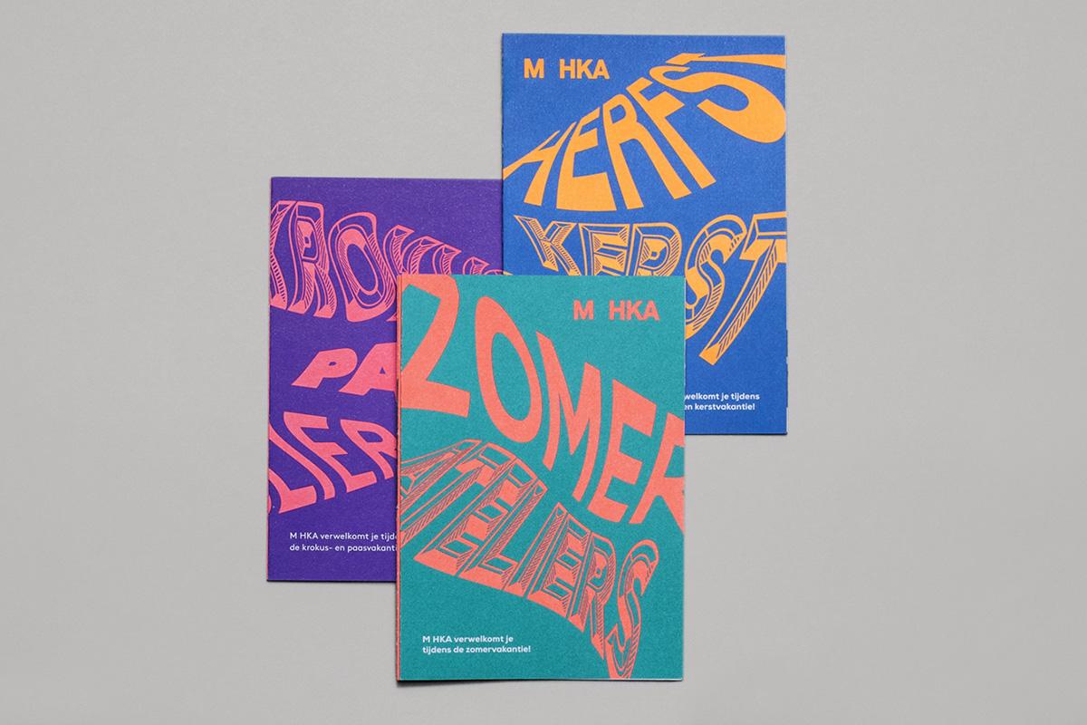 brochure kids folder leaflet museum art Education pantone Duotone antwerp belgium