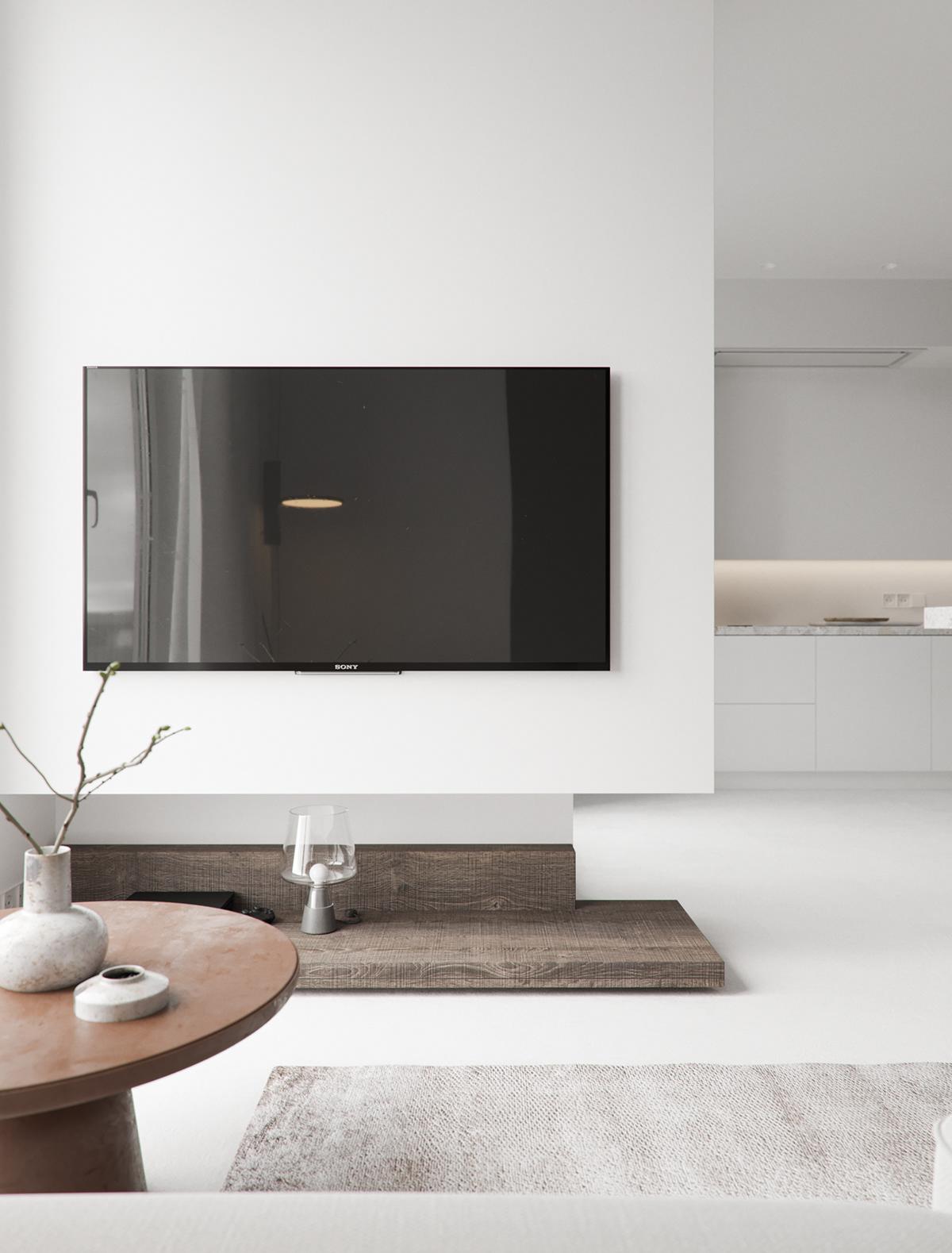 architecture interior design  design minimalist minimalistic White wood minsk kotraarchitects