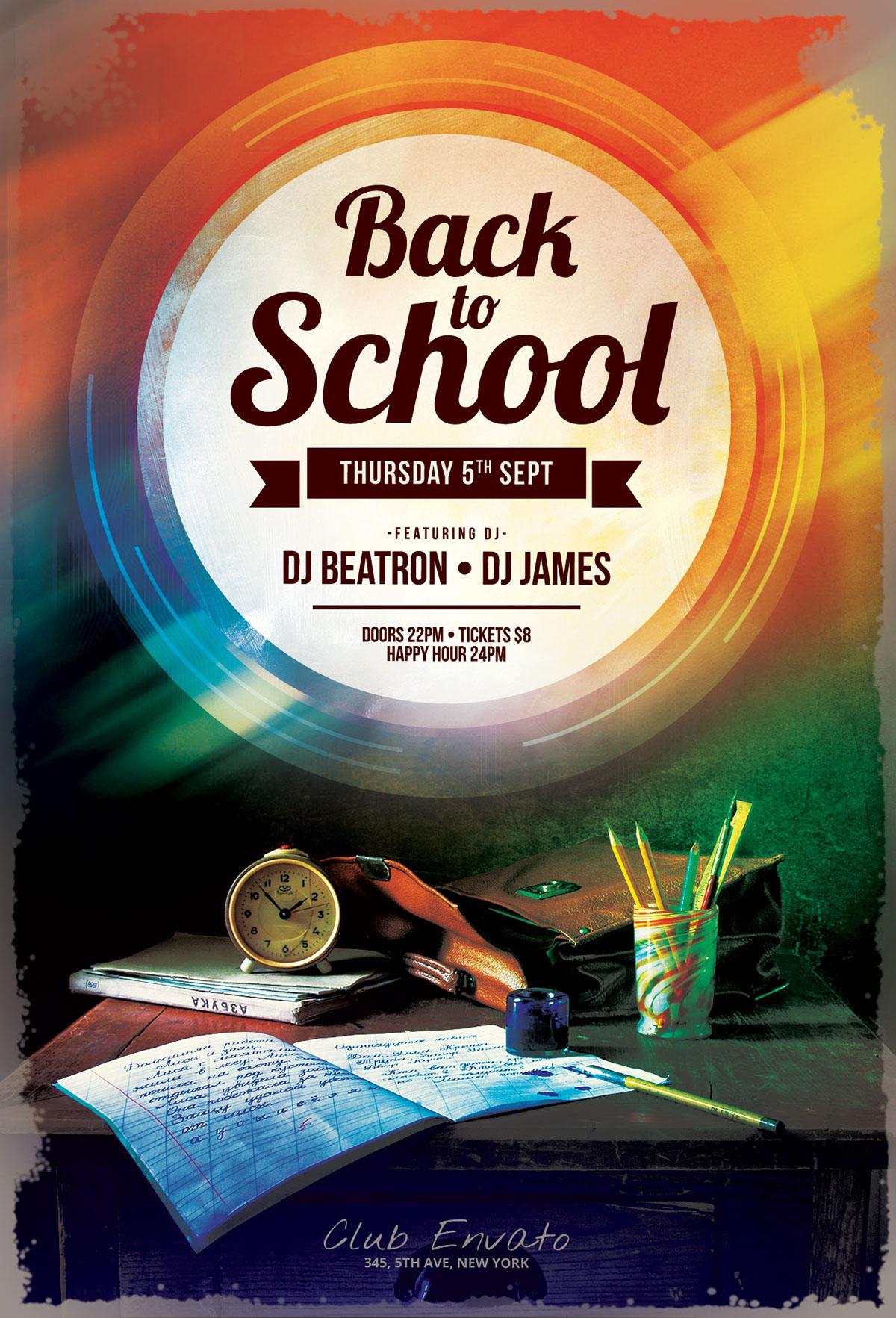 Back to School Flyer on Behance