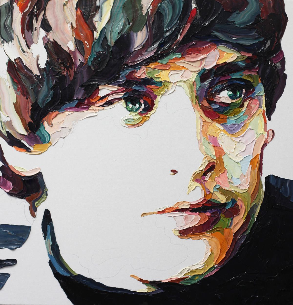 contemporary portrait artist Josh Miels.#artpeople