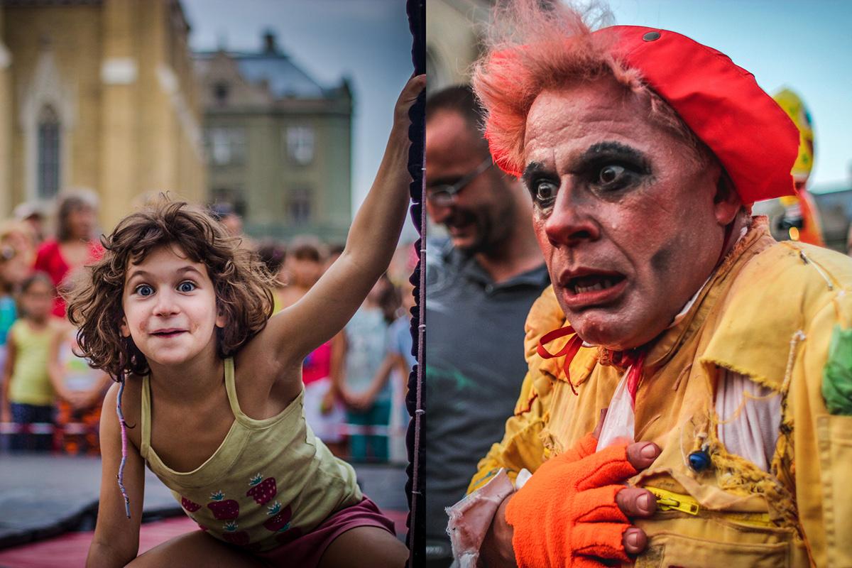 street photography Performers Novi Sad musicians music clown