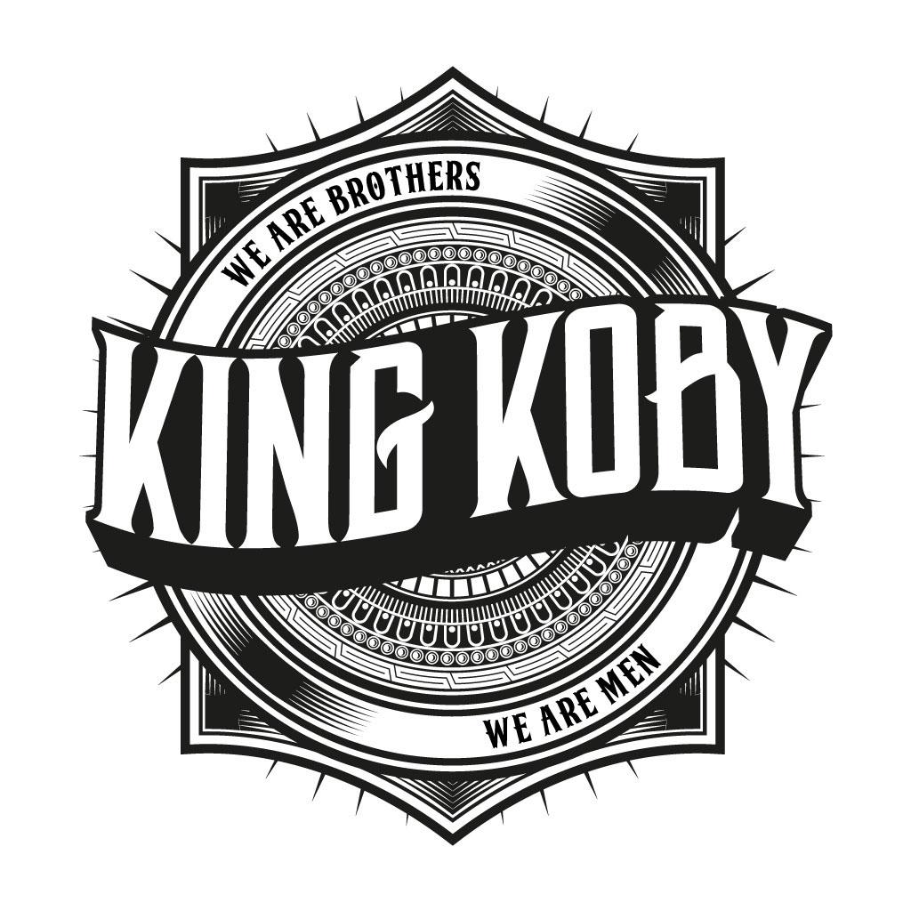 Logo Design logo barbers trendy edgy Rebrand leeds yorkshire men male KING KOBY