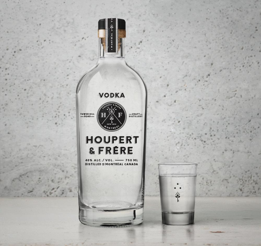 Vodka distillery Montreal Patrick Fleury spiritueux liquor emballage + packaging +