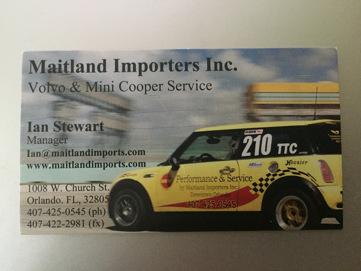 Maitland Imports Business Card On Behance