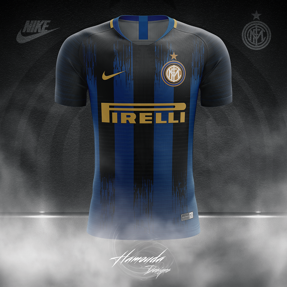 finest selection 1601e d227c Inter Milan Football Concept Kit 2018/2019 on Pantone Canvas ...