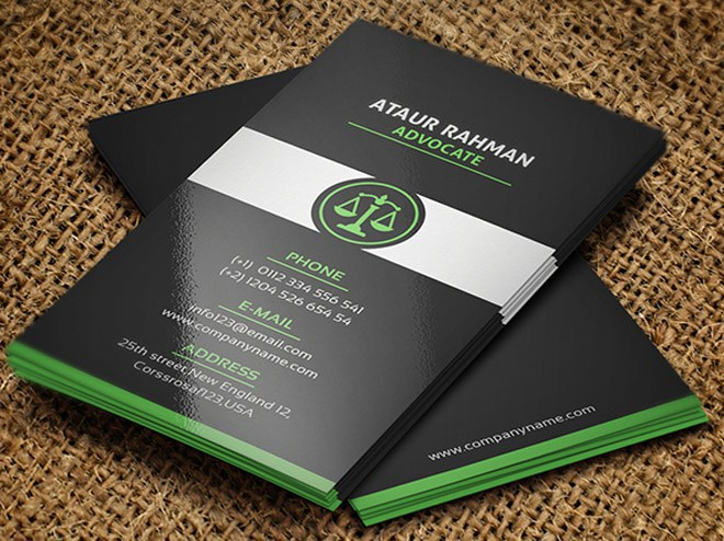 Free Lawyer Business Card Template On Behance - Lawyer business card templates