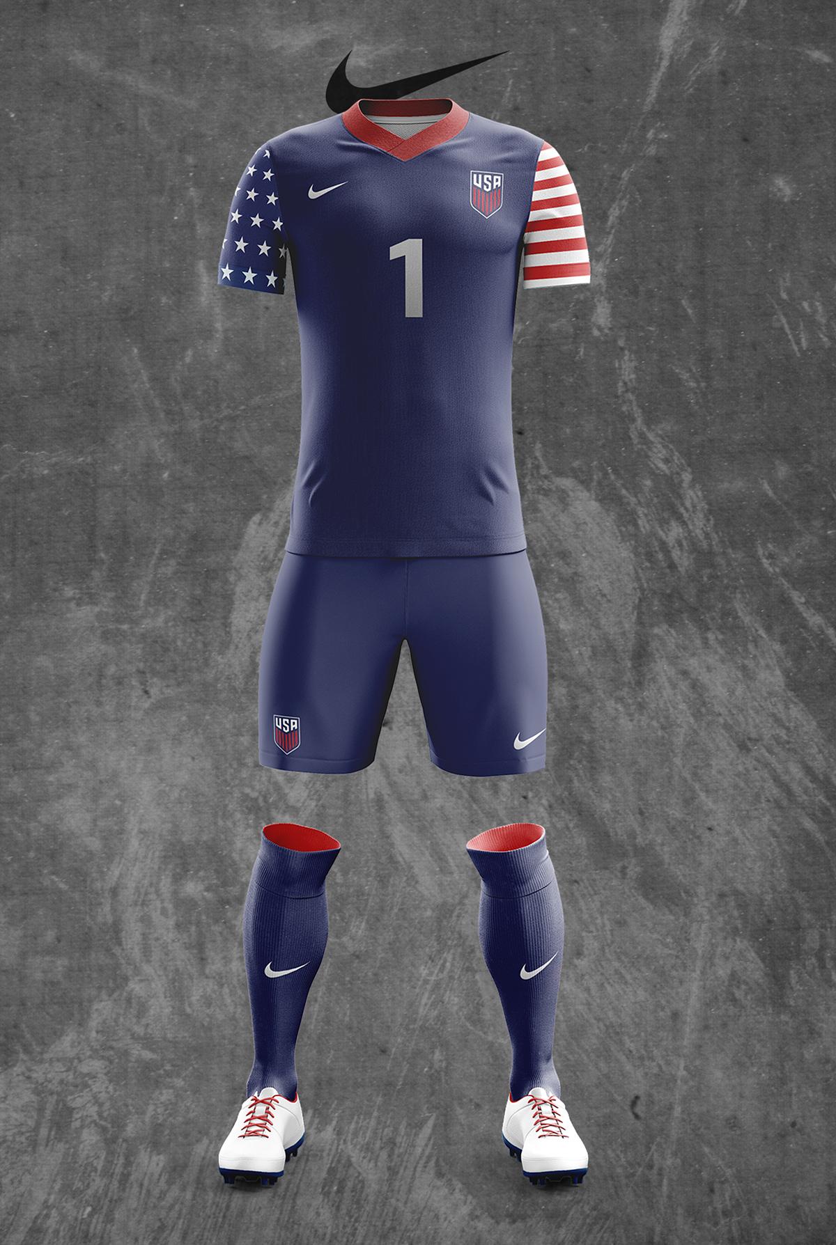 21f60d784f6 Concept US Men s National Team Nike Soccer Kit Designs on Pantone ...