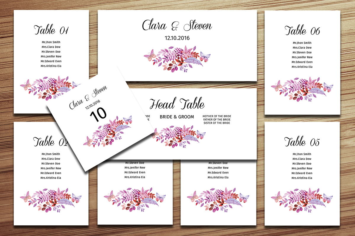 Slobbery image inside printable wedding seating chart template