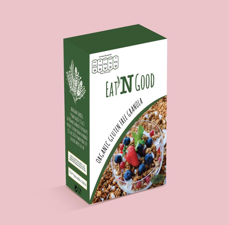 Packaging design brand granola healty food