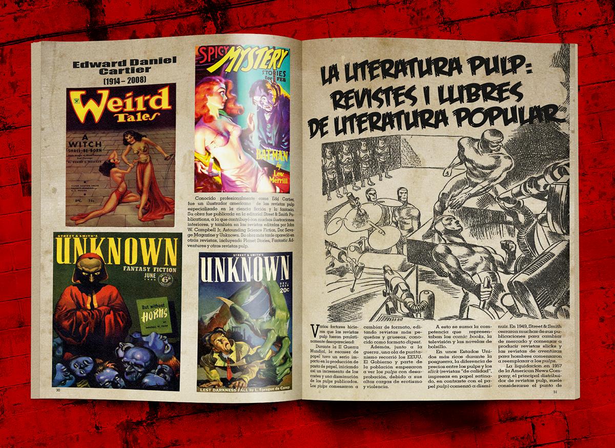 página ejemplo de revista pulp