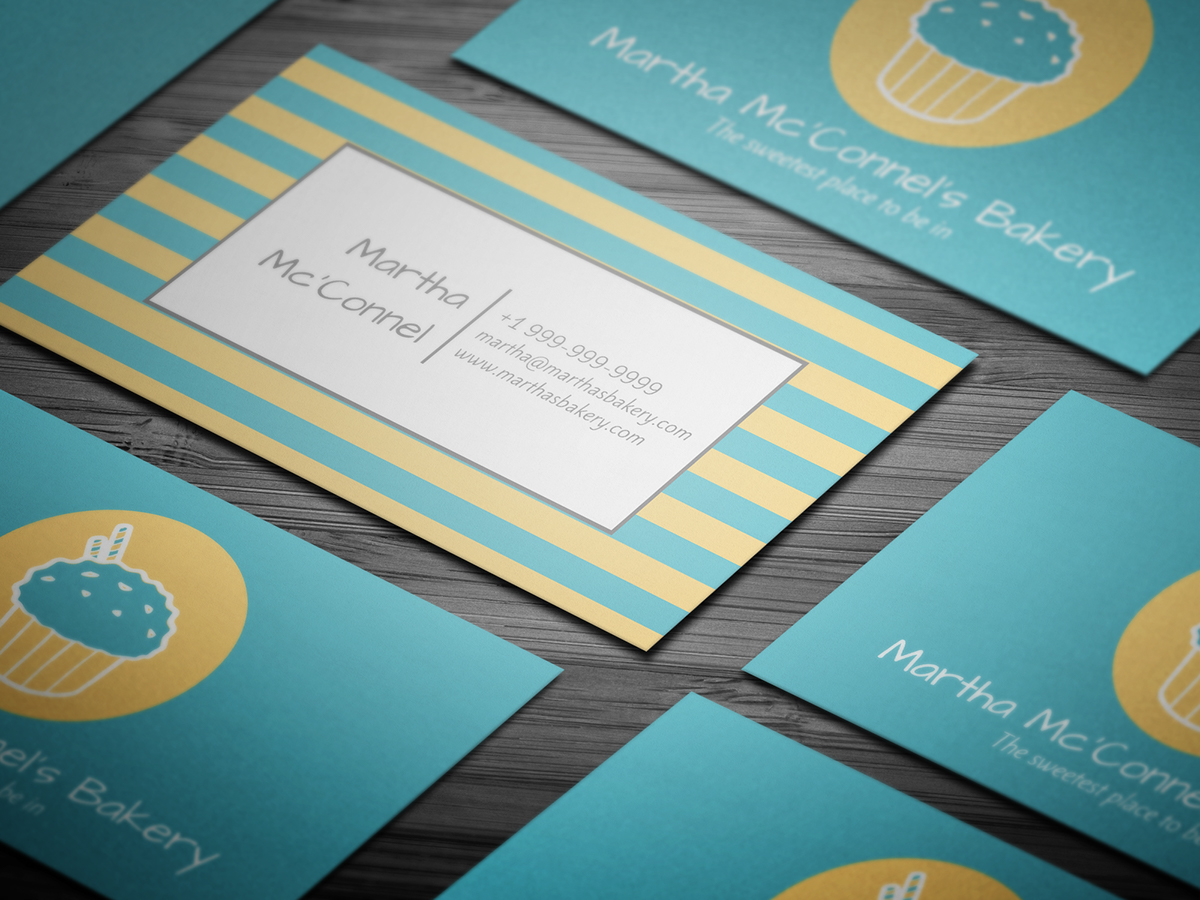 10 FREE Professional Bakery Business Cards Templates On Student Show