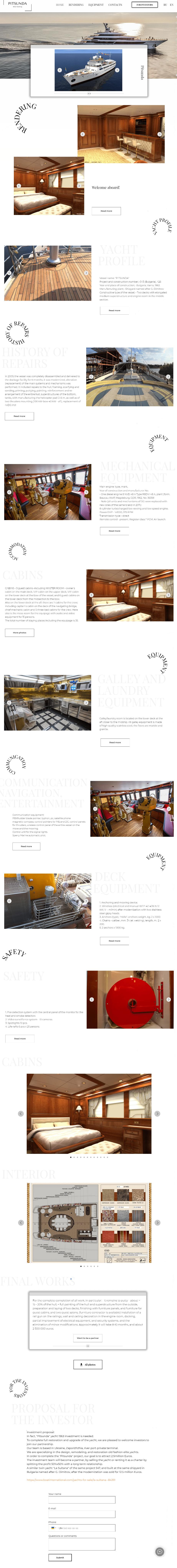 Elite investor luxury yacht Yachting