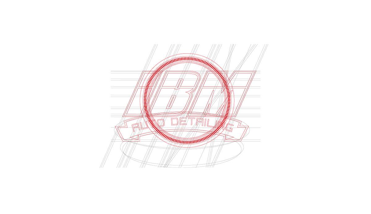 brand logo marca design auto detailing IBM