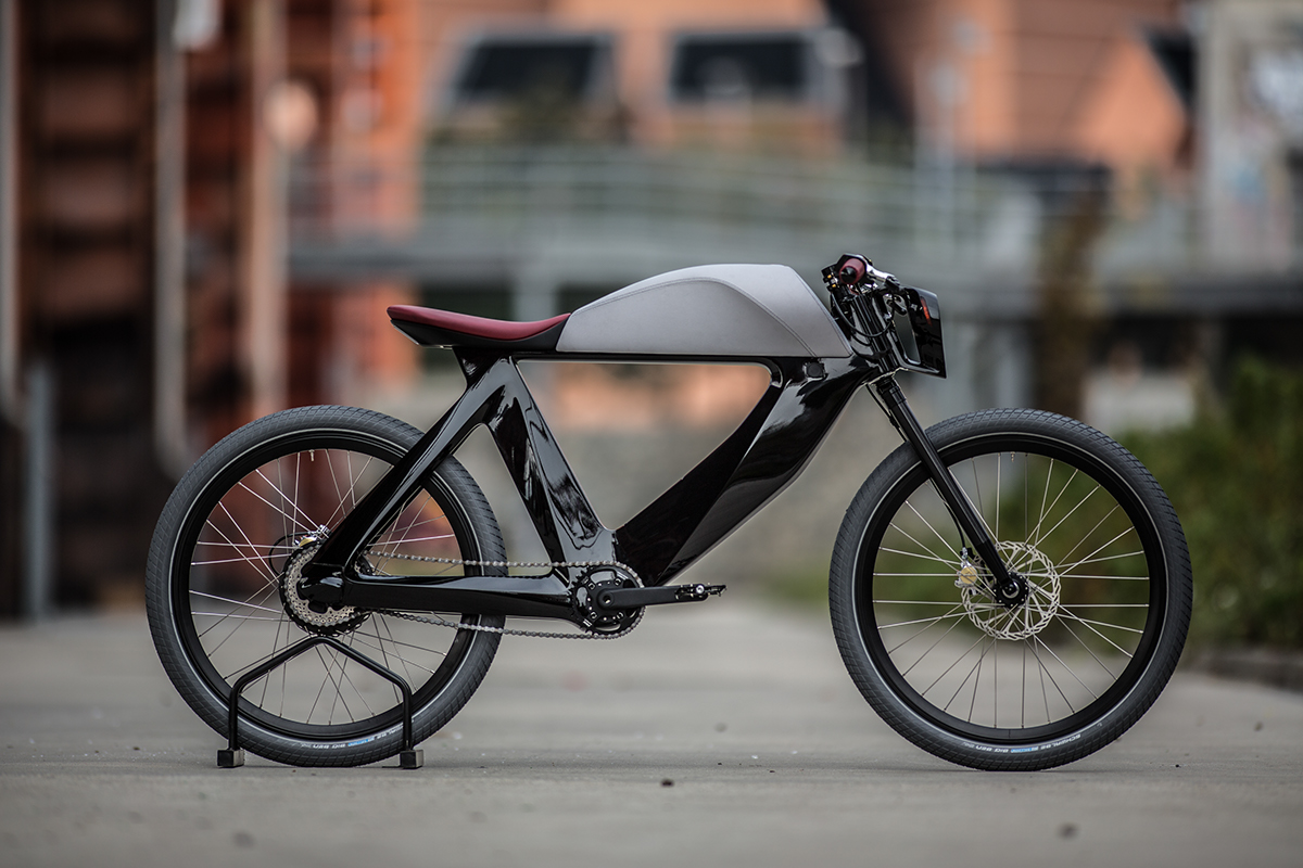 Bicicletto z profilu